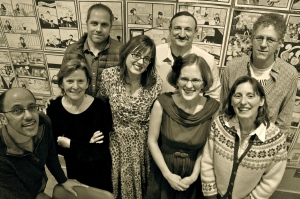 Some of the Brave on the Page authors gather after our Jan. 7 event at Powell's City of Books