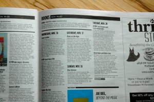 Willamette Week ran a great blurb telling people about our Nov. 17 reading.