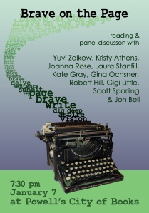 Gigi Little, our Forest Avenue Press graphic designer, created this poster for our event.