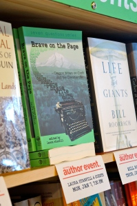 Our Jan. 7 reading earned us a prominent spot on the events shelf at Powell's.