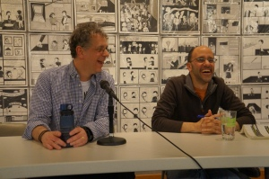 In almost every photo I took of Scott Sparling and Yuvi Zalkow, they are laughing and fully enjoying the moment.