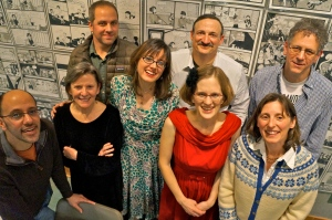 From left, Yuvi Zalkow, Joanna Rose, Jon Bell, Gigi Little, Robert Hill, Laura Stanfill, Kristy Athens and Scott Sparling. Gina Ochsner and Kate Gray not pictured.