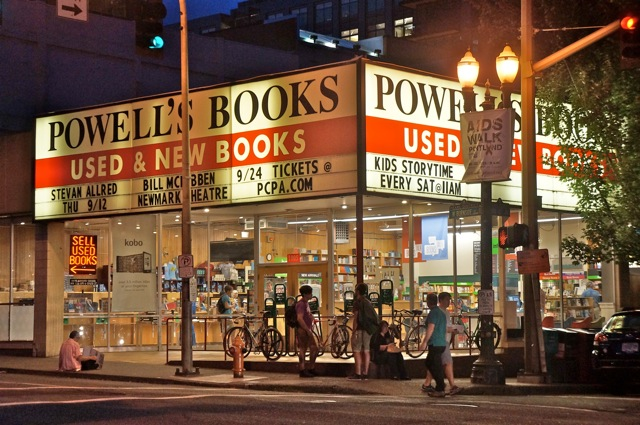 Stevan Allred's name on the Powell's marquee--a dream come true!