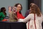 Lois Leveen signs copies of her latest, JULIET'S NURSE.