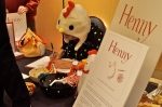 Elizabeth Rose Stanton signs copies of her children's book, HENNY, about a chicken with arms.