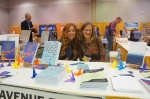 Ellen and I at the Forest Avenue Press booth.