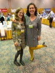 Author Tracy Manaster, YOU COULD BE HOME BY NOW, forthcoming in December, and me, wearing the same color scheme.