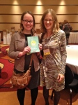 I met Raina Telgemeier and had her sign a copy of SMILE for my daughter. And if you look closely, you'll see I'm wearing a paperclip necklace promoting Stephanie Kallos's new novel, LANGUAGE ARTS.