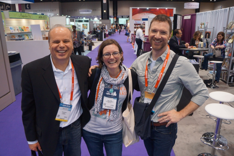 Kent Watson of PubWest, Tegan Tigani of Queen Anne Books, and Brian Juenemann of PNBA.