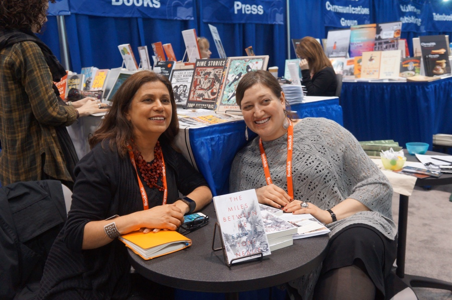 Toni Nealie, author of THE MILES BETWEEN ME (Curbside Splendor), and author Avia Kushner, who is yet another one of Kevin Smokler's wonderful friends.